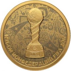 "Coin ""2017 FIFA Confederations Cup "", 50 rubles, gold"