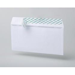 Конверт почтовый E65 (110x220 мм),  белый,  удаляемая лента