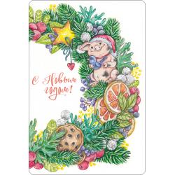 Новогодняя сказка (мини-открытка)