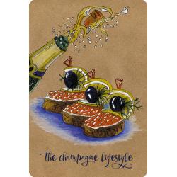 Брызги шампанского (мини-открытка)