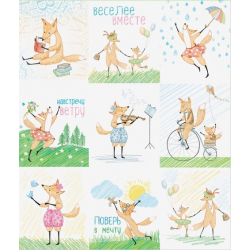 """Paper stickers """"Foxes"""""""