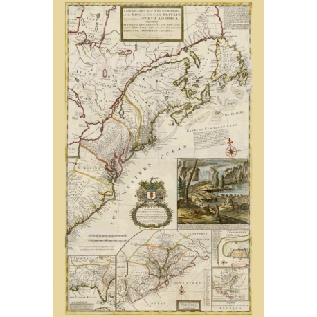 Map of the King of Great Britain on ye Continent of North America. Map Maker - Herman Moll, 1731.
