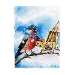 Красногрудый художник