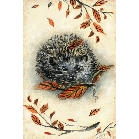 Hedgehog with branches