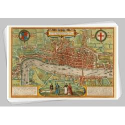 Medieval maps - 18 postcards