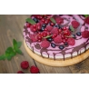 Raw Raspberries Cashew Cake