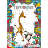 Giraffe and penguin - 3D postcard