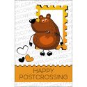 The bear with a stamp. Happy postcrossing