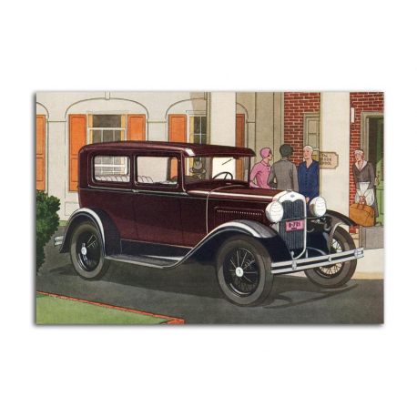 Ford two-door Sedan 1930 - artwork by James Williamson