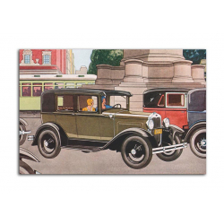 Ford De Luxe Sedan 1930 - artwork by James Williamson