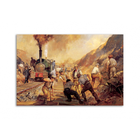 The Railroad artwork by Alan Fearnley