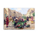 Парижские цветочницы - художник Louis de Schryver