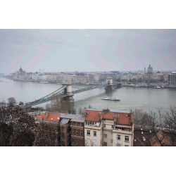 Budapest. Szechenyi Chain Bridge