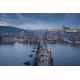 Прага. Карлов мост на закате
