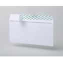 Конверт почтовый E65 (110x220 мм),  белый,  удаляемая лента ( 20 штук в упаковке)
