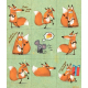 "Paper stickers ""Foxes"""