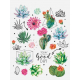 "Paper stickers ""Succulents"""