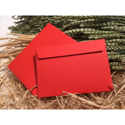 Envelope red C6