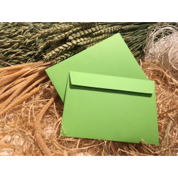 Envelope green C6