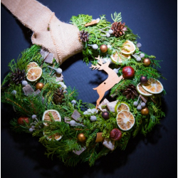"The christmas wreath ""Forest deer"""