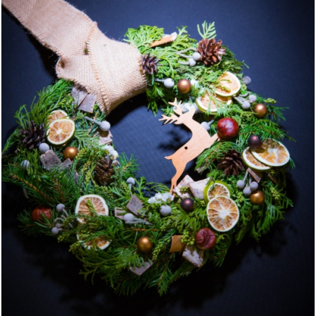 """The christmas wreath """"Forest deer"""""""
