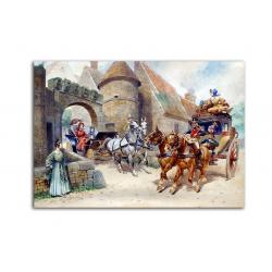 коллекционные открытки - художник Georges Busson