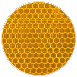 Reflective sticker, circle 5 cm, yellow