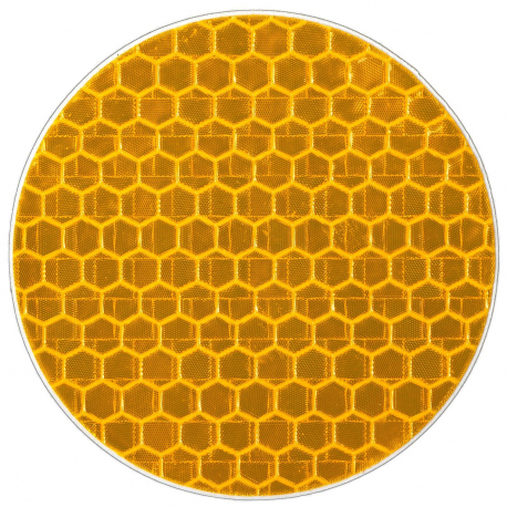 Светоотражающая наклейка, круг 5 cм, желтый