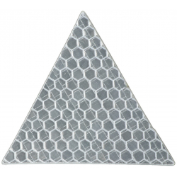 Reflective sticker, triangle 5x5 cm, white