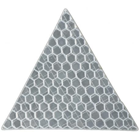 Светоотражающая наклейка, треугольник 5x5 см, белый