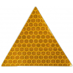 Reflective sticker, triangle 5x5 cm, yellow