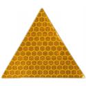 Светоотражающая наклейка, треугольник 5x5 см, желтый, 10 шт.