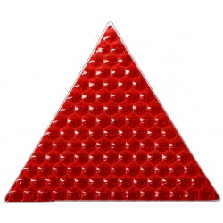 Reflective sticker, triangle 5x5 cm, red