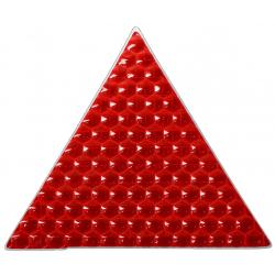 Светоотражающая наклейка, треугольник 5x5 см, красный