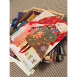 Set of 100 postcards for postcrossing