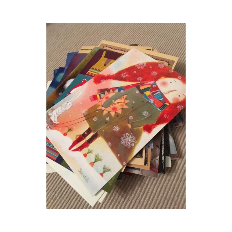 Днем работника, набор открыток 100 открыток для посткроссинга