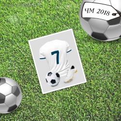 Мини-открытка «Знаменитость», футбол