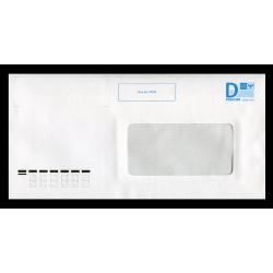 """Маркированный конверт с литерой """"D"""" с окном с зоной для ШПИ (автоклапан)"""