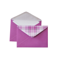 "Envelope with checkered valve C6, ""Fuchsia"""