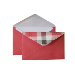 "Envelope with checkered valve C6, ""Bordeaux"""