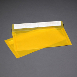Envelope transparent dark yellow from tracing paper E65,