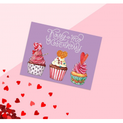 "Postcard-compliment ""Someone special"" cake"