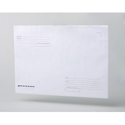 "Envelopes C4, ""From-To"", gray sealing, straight valve, silicone tape, 100 pcs/ pack"