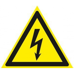 Self-adhesive sign HIGH VOLTAGE