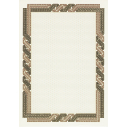 "Paper for  Certificate Decadry ""Brown Twisted Frame"" (A4, 25 sheets)"