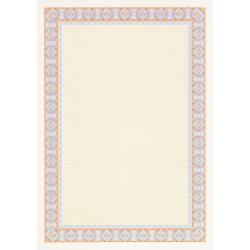 """Бумага для сертификатов Decadry """"Сине-оранжевая рамка"""" (А4, 25 листов)"""