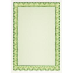 """Бумага для сертификатов Decadry """"Зеленая волна"""" (А4, 25 листов)"""