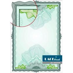 Бумага для сертификатов зеленая с ажурной рамкой, A4, 25 шт/уп