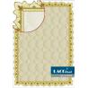 Бумага для сертификатов коричневая с ажурной рамкой, A4, 25 шт/уп