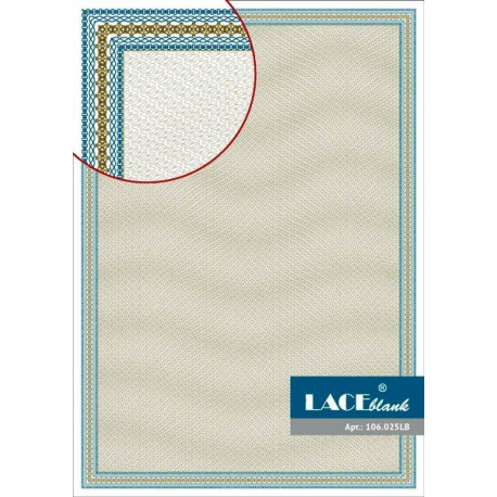 Certificate paper with blue frame, A4, 25 pcs/pack